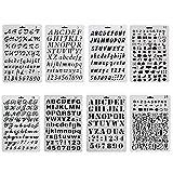 ccmart Kunststoff Bullet Journal Schablone Set der Zahl 8mit Buchstaben Alphabet Symbol Perfekte für Planer/Notebook/Diary/Scrapbook/Journaling/Graffiti/Karte DIY Zeichnen Malen Basteln Projekte