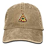 Personality Caps Hats Pizza All Seeing Eye Food Pyramide Adult Sport Adjustable Baseball Cap Cowboy Hat