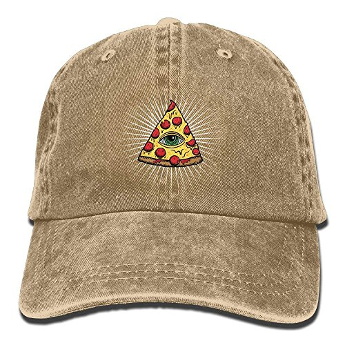 SRFRFGY Hüte,Kappen Mützen Illuminati Pizza All Seeing Eye FD Pyramide Adult Sport...