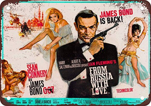 metal Signs James Bond from Russia with Love Vintage Look Reproduktion Metall blechschild 20,3 x 30,5 cm (Coca Cola Schild Dose)