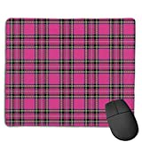 Mouse Pad Pink Lattices Cool Logo Rectangle Rubber Mousepad 8.66 X 7.09 Inch Gaming Mouse Pad with Black Lock Edge