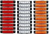 30 Stück x 6 LED 24v LKW Rot Weiß Orange Leuchte Lampe Begrenzungsleuchte Seite