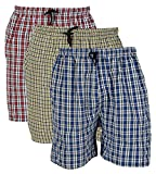 #9: Rebizo Men's Cotton chekered Shorts (Multi-Coloured, XL) pack of 3