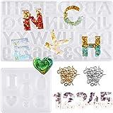 Dokpav 93 stuks alfabet-cijfervorm van silicone voor sieraden van kunsthars, sieraden, sieradenvorm, sieradenhanger