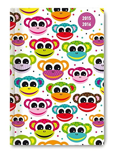Collegetimer Pocket Monkeys 2015/2016 - Schülerkalender A6 - Weekly - 224 Seiten - 2015 Monkey-kalender