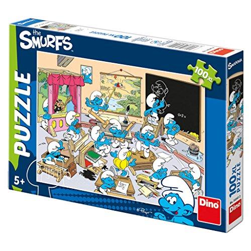 Dinotoys 343412 Hochwertigen Puzzle;Schlümpfe Motiv, 100 XL - Cartoon-film Schlumpf