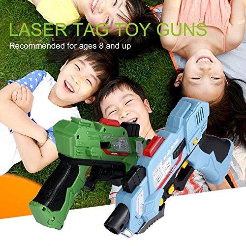 Swiftswan 2Pcs Kinder Laser Tag Spielzeugpistolen mit Blitzlicht & Sounds Kinder Spielzeugpistolen 8 +