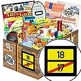 Ortsschild 18 + Geschenkset Nostalgie + Geschenk zum 18. Geburtstag