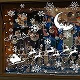 MMTX Natale Vetrofanie Adesivi Decorazione, addobbi natalizi Adesivo parete Decorazione murale Rimovibile Riutilizzabile Porta finestra fai-da-te Decorazioni per la casa di Capodanno