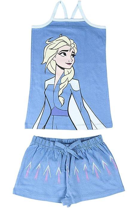 Disney Frozen 2 Pijama Ni/ña Regalos para Ni/ñas 3-12 A/ños Camison Ni/ña de Manga Larga Vestido Ni/ña para Dormir con Las Princesas Anna y Elsa