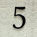 Colours-Manufaktur Hausnummer Nr. 5 - Schriftart: Klassisch - Höhe: 20-30 cm - viele Farben wählbar (RAL 9005 tiefschwarz (schwarz) glänzend, 20 cm)