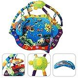 Tapis d'éveil pour bébé - Tapis d'activité motifs aquatiques avec arcs et jouets éducatifs