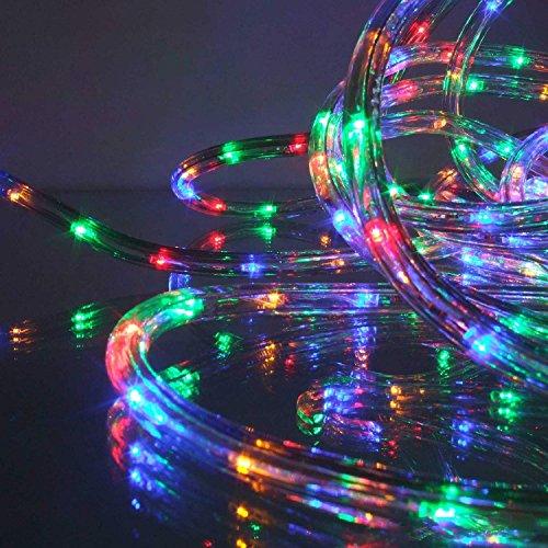 Lichtschlauch 9 m mit 216 LED Multicolor mehrfarbig für Garten außen von Gartenpirat®