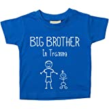 Big Brother in training blu t-shirt per bambini, disponibile nelle taglie da 0–6mesi a 14–15anni New Baby Brother Gift