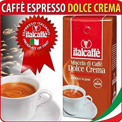 Italcaffe Dolce Crema, Espresso Coffee Beans, 1kg, Whole Bean by Italcaffè S.p.A.