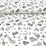 Erstklassiger Baumwollstoff 0,5lfm, 100% Baumwolle, modische Muster, Breite 160cm – Musik