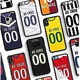 MYCASEFC Coque Real Madrid iPhone 5//5S//SE Foot Personnalisable Silicone nom et num/éro