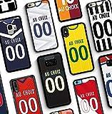IDcaseFR Coque Silicone Bumper Souple IPHONE 7 Plus / 8 Plus - Créer ta Coque de Football Personnalisable au Choix NOM et Numero Swag Case TPU Design + Film de Protection Inclus