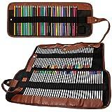 senhai Crayons de couleur Organizer, 48 Fente + 72 Fente Toile Sac Crayon/Wrap enroulable Pouch pour école, bureau, Voyage
