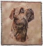 Pure Country 1139-ls Border Terrier mascota manta, canina sobre fondo de color beige, 54por (
