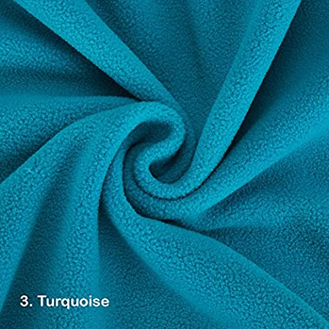 Polar Fleece Fabric, Quality Material, International Approved Test Report for Anti Pill Finish. 21 Fashion Colours, Medium 320Grams weight. Beautiful Plush Pile for garments, home décor and crafts. - 3. Turquoise - Half Metre