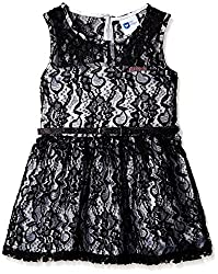 612 League Girls Casual Dress (ILS16I52009_Black_7 - 8 years)