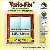 Vario-Fix Spezial Haltebügel für 12cm Blumenkasten mit 115cm Spannstange