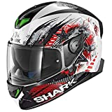 HE4921EWKRM - Shark Skwal 2 Switch Rider 1 Motorcycle Helmet M White Black Red (WKR)