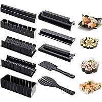 Ouika Kit de Fabrication de sushis Maison 10 Pièces,8 Formes Moules à Sushi Cuisine Kit Bricolage Kit de Fabrication de…