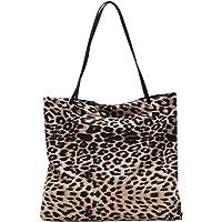 TENDYCOCO borsa shopping donna borsa leopardata borsa shopping retrò borsa leopardata borsa grande portaoggetti - kaki