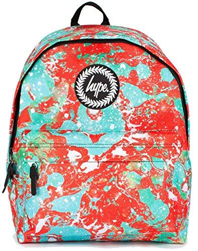 Hype Rucksack Taschen Rucksäcke–Schulranzen–viele neue Farben & Designs–wählen Sie Ihre Favoriten aus 40Styles, Speckled Black/Navy Blue (Schwarz) - Hype bag (Splatter Embroid) Splat Marble