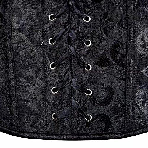 bustino corsetto taglie forti sexy burlesque donna modellante elegante intimo donna Black