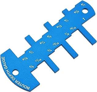 Aluminium 2 in 1 Tiefenmesser für Fräser und Tischsägen Holzbearbeitungswerkzeug
