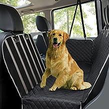 Fundas de asiento de coche para perro, funda de asiento trasero para mascotas, impermeable, a prueba de arañazos y antideslizante, hamaca de viaje duradera ...