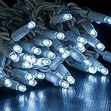 JnDee™ LED-Lichterkette, 100/ 200 LEDs, weiß, mit Netzbetrieb, Dekoration zu Hause, Raumgestaltung, 10/ 20m, cool white, 100LED