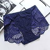Meine Damen Unterwäsche_sexy großen panty Damen Sexy Spitze Höschen fett Gaze nahtlose Großhandel, Deep Purple, M