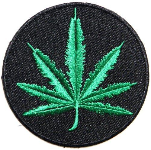 Weed Marijuana Pot Leaf Rasta Rastafari Jamaica Reggae Logo rasta Aufnaher / Patch Sew Iron on Embroidered - Flagge Pot Leaf