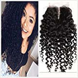 Full Shine 12 Pouces 100% Cheveux Humains Réels Cheveux Bouclés Bouclés Naturels Lace Closure Middle Part (4 * 4) Cheveux Colorés Naturels