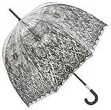 Jean Paul Gaultier Luxus Designer Damen Regenschirm Transparent Look mit Kunst Druck