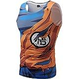 NIEWEI-YI Dragon Ball Canotta Uomo Palestra Tshirt Senza Maniche Divertenti Colorata 3D Stampa Canottiere per Uomo