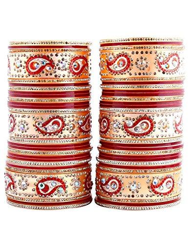 3. Lucky Jewellery Bridal Punjabi Choora Wedding Chuda Stone Fashion Chura