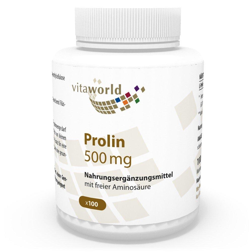 Vita World Prolina 500mg 100 Capsule Made in Germany