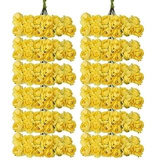 Ramos decorativos de capullos de rosas de papel, de 1,5 cm, 140 unidades aproximadamente