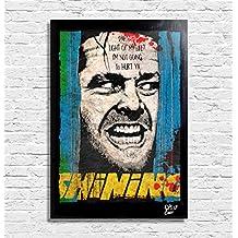 Jack Torrance, Shining / El Resplanador (Stephen King, Stanley Kubrick) - Pintura enmarcado original, imagen, impresión, cartel, póster, impresion en lienzo, cuadro, cómics, cartel de la película