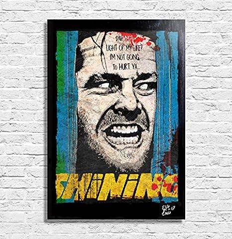 Jack Torrance, Shining film (Stephen King, Stanley Kubrick) - Illustration originale encadrée, peinture, presse artistique, poster, toile imprimée, art contemporain, image sur toile, affiche d'art, bandes dessinées, affiche de film, horreur