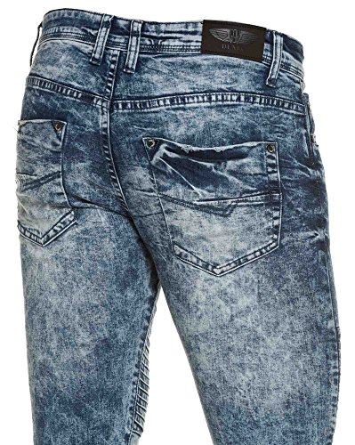 Gov Denim - blau dünne Jeans Mann Bünden Blau