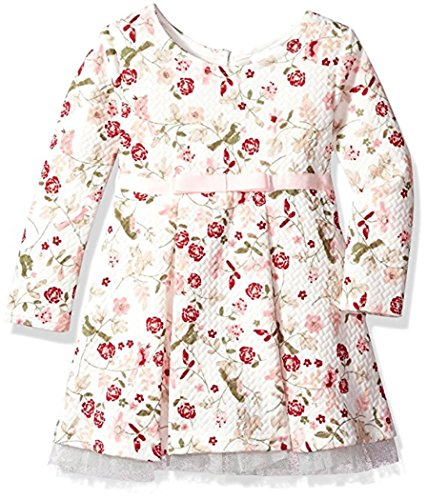 Entzückendes Baby-Kleid in ivory mit Blumen von Youngland Gr. 74,80,86 Größe 80 (Youngland Kleid)