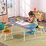 Kidkraft legno e metallo resistente Deluxe Chalkboard Art tavolo con sgabelli per bambini 3anni fino