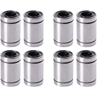 XSENTUALS LM8UU 8 mm Linear Ball Bearing for 3D Printer RepRap Prusa CNC Parts - 8 Pieces