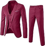 Men Suit Formal,Men's Suit Slim 3-Piece Suit, 1 PC Men Coat+1 PC Vest+1 PC Pants for Blazer Business Wedding Party